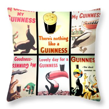 Vintage Guinness  Throw Pillow