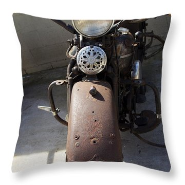 Vintage Harley Throw Pillow
