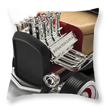 Throw Pillow featuring the photograph Vintage Hot Rod Engine by Gianfranco Weiss