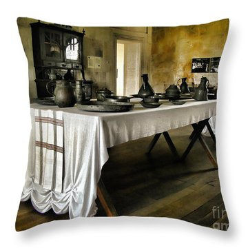 Vintage Interior Kitchen Throw Pillow