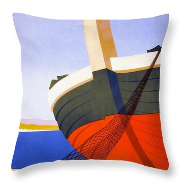 Vintage Italy Travel Poster Throw Pillow