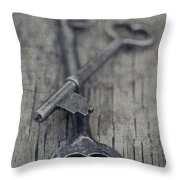 Vintage Keys Throw Pillow