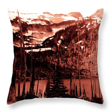 Throw Pillow featuring the photograph Vintage Lake Louise Early 1900 Era... by Eddie Eastwood