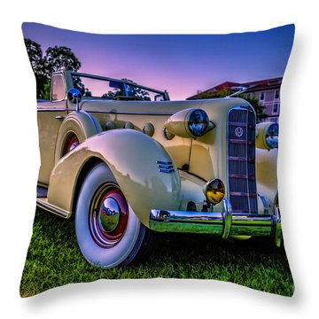 Vintage Lasalle Convertible Throw Pillow by Edward Fielding