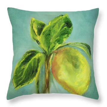 Vintage Lemon I Throw Pillow