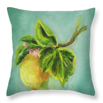 Vintage Lemon II Throw Pillow