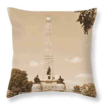 Vintage Lincoln's Tomb Throw Pillow by Luther Fine Art