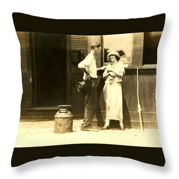 New Orleans Vintage Love In Memory Of My Deceased Grandfather From Ireland I Never New Throw Pillow by Michael Hoard