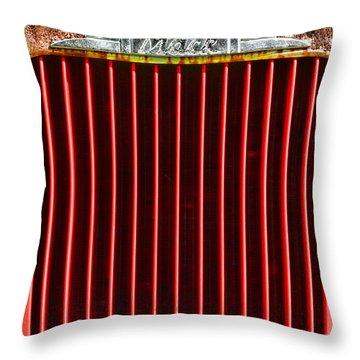 Vintage Mack Grill Throw Pillow