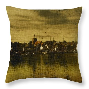Throw Pillow featuring the digital art Vintage Maldon  by Fine Art By Andrew David