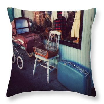 Vintage Memories Throw Pillow by Melanie Lankford Photography