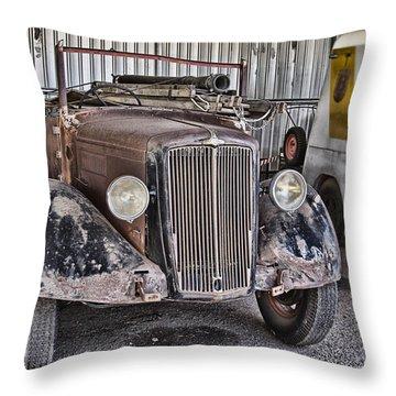 Vintage Morris Commercial Throw Pillow by Douglas Barnard