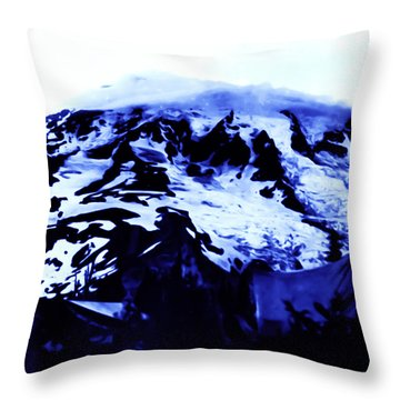Throw Pillow featuring the photograph Vintage Mount Rainier At Twilight Early 1900 Era... by Eddie Eastwood
