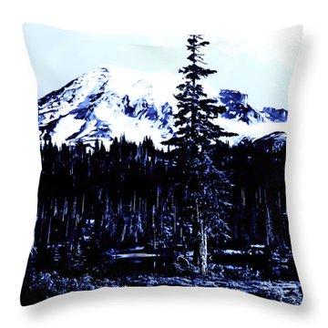 Vintage Mount Rainier Early 1900 Era... Throw Pillow by Eddie Eastwood
