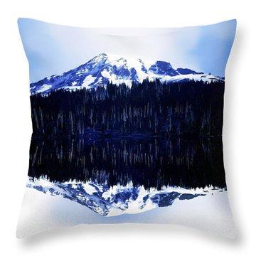 Vintage Mount Rainier From Reflection Lake Early 1900 Era... Throw Pillow