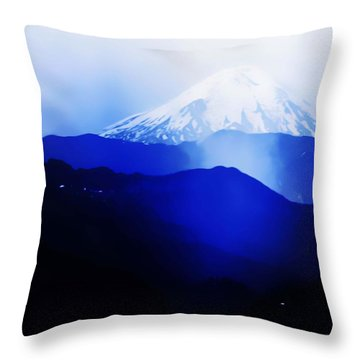 Throw Pillow featuring the photograph Vintage Mount St. Helens From Pinnacle Peak Early 1900 Era... by Eddie Eastwood