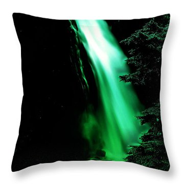 Throw Pillow featuring the photograph Vintage Narada Falls Early 1900 Era... by Eddie Eastwood