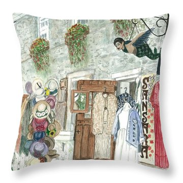 Vintage New Hope Throw Pillow
