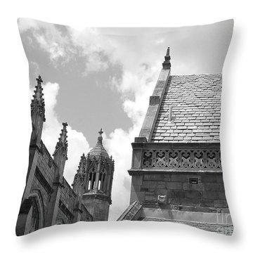 Vintage Ornate Architecture Throw Pillow