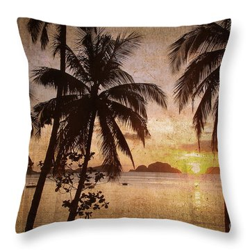 Vintage Philippines Throw Pillow