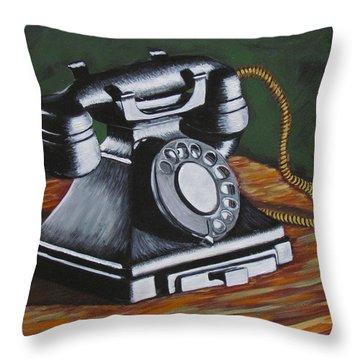 Vintage Phone 2 Throw Pillow
