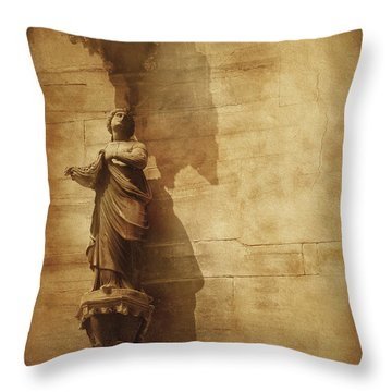 Vintage Photo Of Duomo Architecture Throw Pillow by Evgeny Kuklev