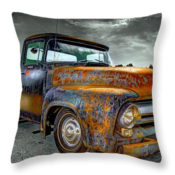 Vintage  Pickup Truck Throw Pillow