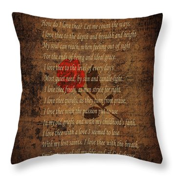 Vintage Poem 4 Throw Pillow