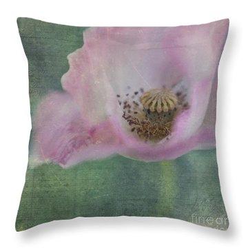 Vintage Poppy Throw Pillow by Priska Wettstein