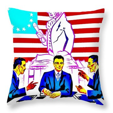 Vintage Poster - Read Up Throw Pillow by Benjamin Yeager