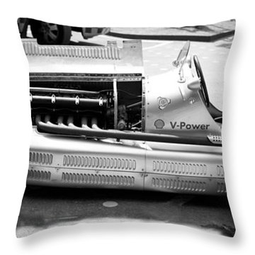Throw Pillow featuring the photograph Vintage Racing Car by Gianfranco Weiss