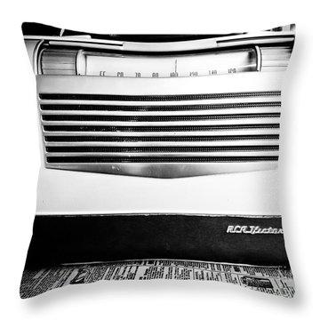 Vintage Radio Throw Pillow by Edward Fielding