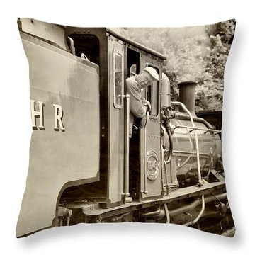 Vintage Railway Throw Pillow by Jane Rix