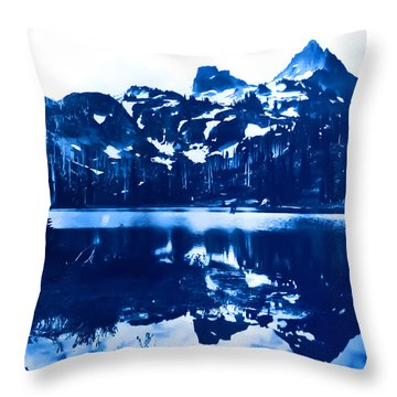 Throw Pillow featuring the photograph Vintage Reflection Lake  With Ripples Early 1900 Era... by Eddie Eastwood