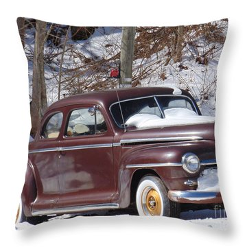 Vintage Ride Throw Pillow by Charlotte Gray