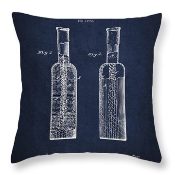 Vintage Rock Candy  Patent Drawing From 1881 Throw Pillow by Aged Pixel