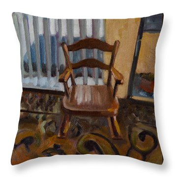 Vintage Rocker Throw Pillow
