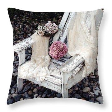 Vintage Romantic Shabby Chic Adirondac Chair Throw Pillow