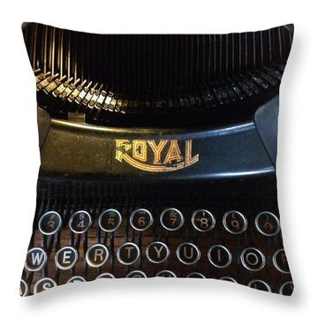 Vintage Royal Typewriter Throw Pillow by Patricia E Sundik