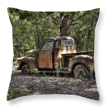 Vintage Rust Throw Pillow