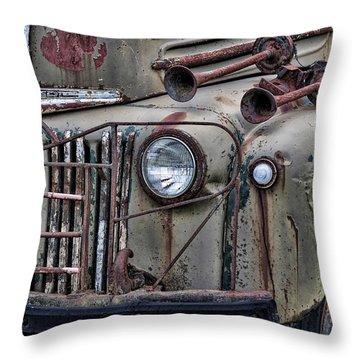 Vintage Rust Throw Pillow by Richard Bean