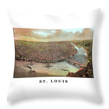 Vintage Saint Louis Missouri Throw Pillow by War Is Hell Store