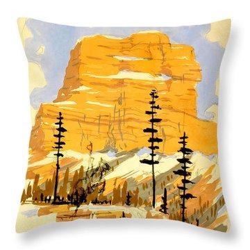 Vintage Travel Poster Throw Pillows