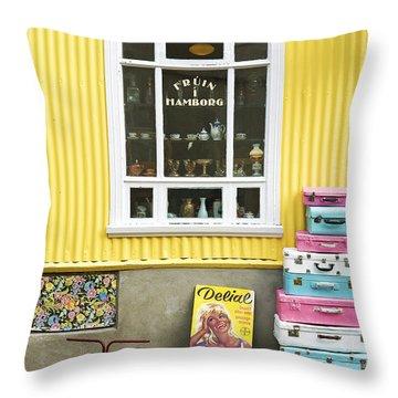 Vintage Shop In Akureyri Iceland Throw Pillow
