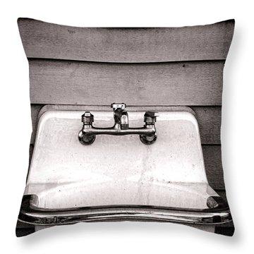 Vintage Sink Throw Pillow