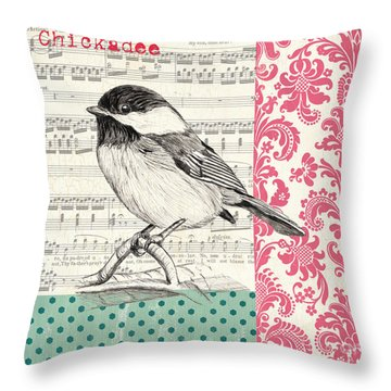 Pink Flowers Throw Pillows