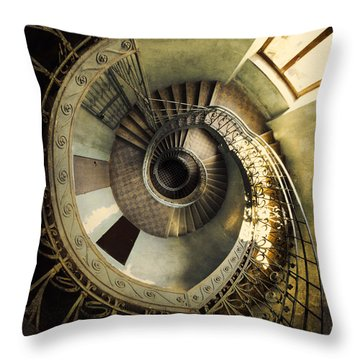 Vintage Spiral Staircase Throw Pillow