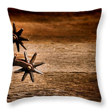 Vintage Spurs Throw Pillow by Olivier Le Queinec