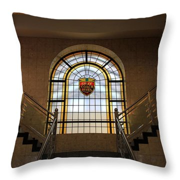 Vintage Stained Glass 1 Throw Pillow by Andrew Fare