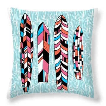 Vintage Surfboards Part2 Throw Pillow